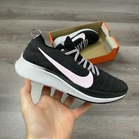 WOMENS NIKE ZOOM FLY FLYKNIT BLACK PINK RUNNING TRAINERS SIZE UK4.5 US7 EUR38