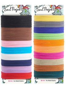 Soul Projekt Hair Bands 100 pack Bobbles No Metal School Elastic Hair Ties 4mm