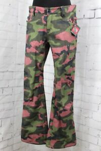 686 Gossip Softshell Snowboard Pants Women's Small, Crushed Berry Camo New 2020