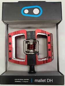 Crank Brothers Mallet DH Bike Pedals for Downhill Racers Red
