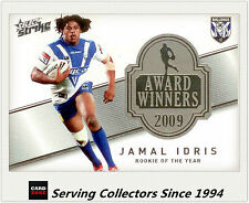 2011 Select NRL Strike Award Winners Card AW3 Jamal Idris - 2009 Rookie