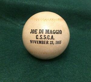 November 23, 1955 Joe DiMaggio C.S.S.C.A. Sponge Rubber Baseball W/ Signature