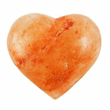Pink Himalayan Salt Heart Shaped Cleansing Massage Stone 170g / 6 oz
