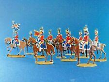 Plats d'étain - flat tin - Zinnfiguren - 12 cavaliers anglais bataille Waterloo