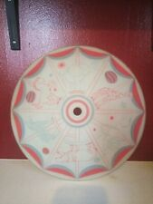 Vintage Circus 1950 60s Glass Ceiling Light Cover Lamp Shade Kids Room tiger