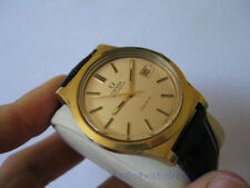 OMEGA GOLD FILLED GENEVE AUTOMATIC DATE WATCH LINEN DIAL 36.5MM  SERVICED