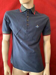 BNWT VIVIENNE WESTWOOD Navy 100% Cotton Orb Polo Shirt Size M