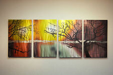 Abstract Metal Wall Art Contemporary Modern Decor Original- Tree in Silhouette