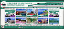 Japan 2016 Eisenbahn Trains Railroad Hokkaido Shinkansen Landschaften Zug MNH