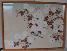 Vintage Chinese Silk Painting Birds Signed Asian Oriental