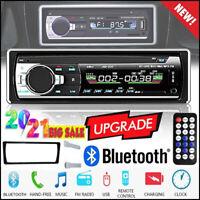 Single 1DIN Car Stereo Radio MP3 Player Bluetooth Audio TF USB FM 12V Head Unit