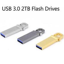 USB 3.0 2TB Flash Drives Memory Metal Flash Drives Pen Drive U Disk PC Laptops
