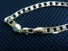 7mm Wide 14k Yellow Gold Plated Classic Curb Bracelet Link Chain 8""