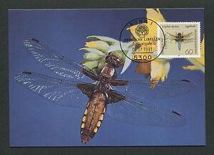GERMANY MK 1991 DRAGONFLY LIBELLULE LIBELLE CARTE MAXIMUM CARD MC CM /m76