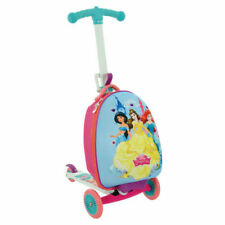 Official Disney Princess 3 in 1 Scootin Suitcase Girls Ride on Luggage Scooter