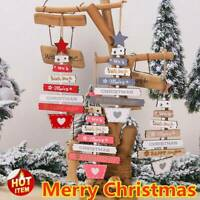 Merry Christmas Wooden Pendant Hanging Door Xmas Tree Home Party Ornaments Gift