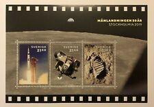 NEW 2019 Sweden Moon Landing Stockhomia mint souvenir sheet limited edition 5000