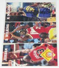1993/94 Michael Jordan/Wilkins/Malone Hoops League Leaders Scoring Card #283 NM