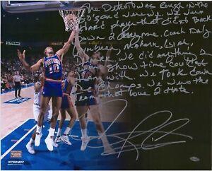 Dennis Rodman Detroit Pistons Signed 16x20 Photo w/ Hand Written Story Fanatics
