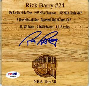 Rick Barry SIGNED Floorboard HOF Golden State Warriors PSA/DNA AUTOGRAPHED