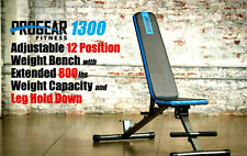Heavy Duty Adjustable Weight Bench - Flat / Incline / Decline - 800lb Capacity