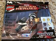 Lego Marvel Super Heroes Rocket Raccoon Minifigure Set New Sealed Polybag TRU