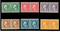 1917 US #490//497  MNH OG ~ Perf 10 Horizontal Coil Pairs...[ST]...Free Shipping