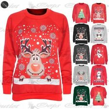 Unbranded Christmas Cotton Long Sleeve T-Shirts for Women