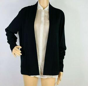 J.Crew Collection Italian Cashmere Open Front Cardigan Sweater Size M Women's