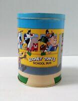 Looney Tunes School Bus Buggs Bunny Brach's Candy Corn empty collector Tin 1990