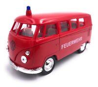 VW Bulli T1 Feuerwehr Modellauto Auto rot LIZENZPRODUKT 1:34-1:39 OVP