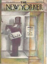 COVER ONLY New Yorker magazine ~ December 3 1979 ~ FRANCOIS ~ Painter