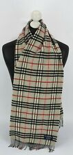 BURBERRY SCARF 100% LAMBSWOOL FOR MEN AND WOMEN MADE IN ENGLAND GREY 44