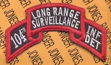 104th LRS Airborne Ranger Inf Det PA ARNG scroll patch