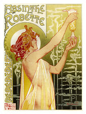 Absinthe Robette Old French Cocktail Drink Pub Bar Kitchen Small Metal Tin Sign