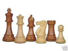"House of Chess Imperial design Staunton chess set Golden Rosewood 4"" + 2 Queens"