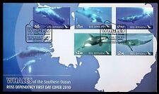 Ross Dependency 2010 FDC balene del Southern Ocean