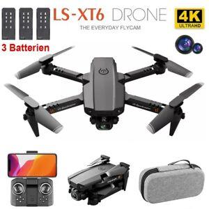 WIFI 4K HD Mini Kamera Drohne Selfie Quadrocopter FPV RC Faltbar Drone 3 Akkus