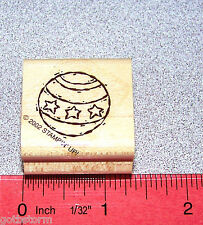 Stampin Up Toy Box Stamp Single Ball  with stars Boy Toys  Boy Stuff