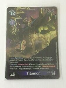 Digimon TCG  BT6-081  TITAMON   SUPER  RARE  - ALTERNATIVE  ART