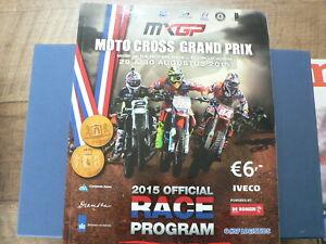 2015 MOTO CROSS GRAND PRIX MX GP THE NETHERLANDS TT CIRCUIT ASSEN PROGRAM RACE