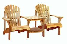 Swedish Redwood Double Adirondack Relaxing Chair