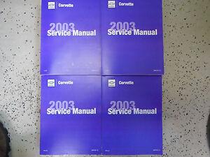 2003 GM Chevrolet Chevy Corvette Service Shop Reparatur Werkstatt Manual Set Neu