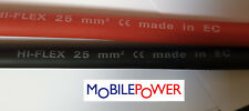 25mm² Hiflex Battery Cable Auto Lorry Black or Red 170A 12-24v 322/0.3 to length