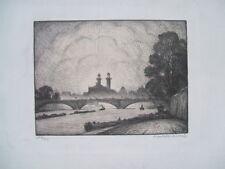 Ancien litho quai PARIS André Mantelet-Martel