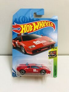 NEW HOTWHEELS LAMBORGHINI GOUNTASH 50th RED PACE CAR 1:64 DIE CAST SCALE