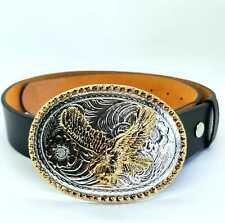 Golden Eagle Belt Buckle Heavy Metal Biker USA Cowboy Western Indian Cowboy