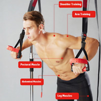 Bodyweight Suspension Strength Training Resistance Bands Straps Gym Fitness Yoga