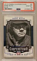~RARE~ 2015 Panini Cooperstown #5 Babe Ruth Blue 04/25 Graded PSA 10 GEM MINT!
