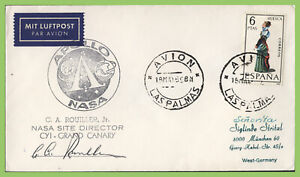 Chile 1969 NASA Grand Canary Tracking Station signed cover